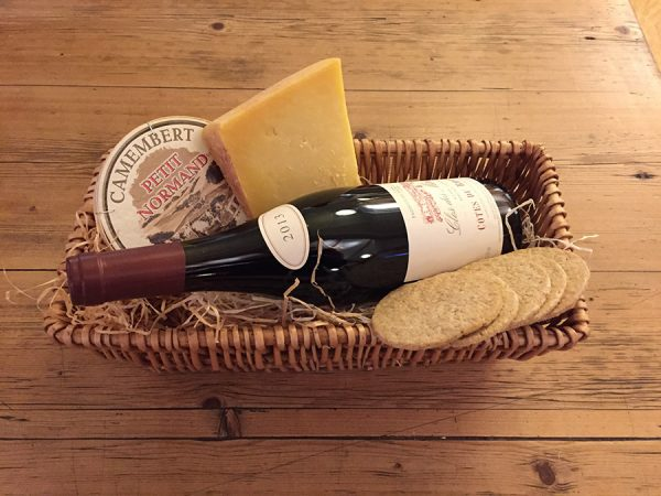 Loch Arthur Cheese and Wine Basket